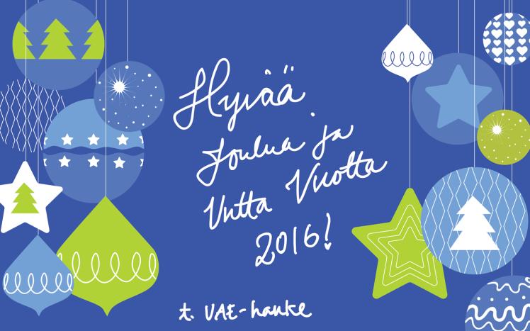 Hyvää joulua ja energistä Uutta vuotta 2016!